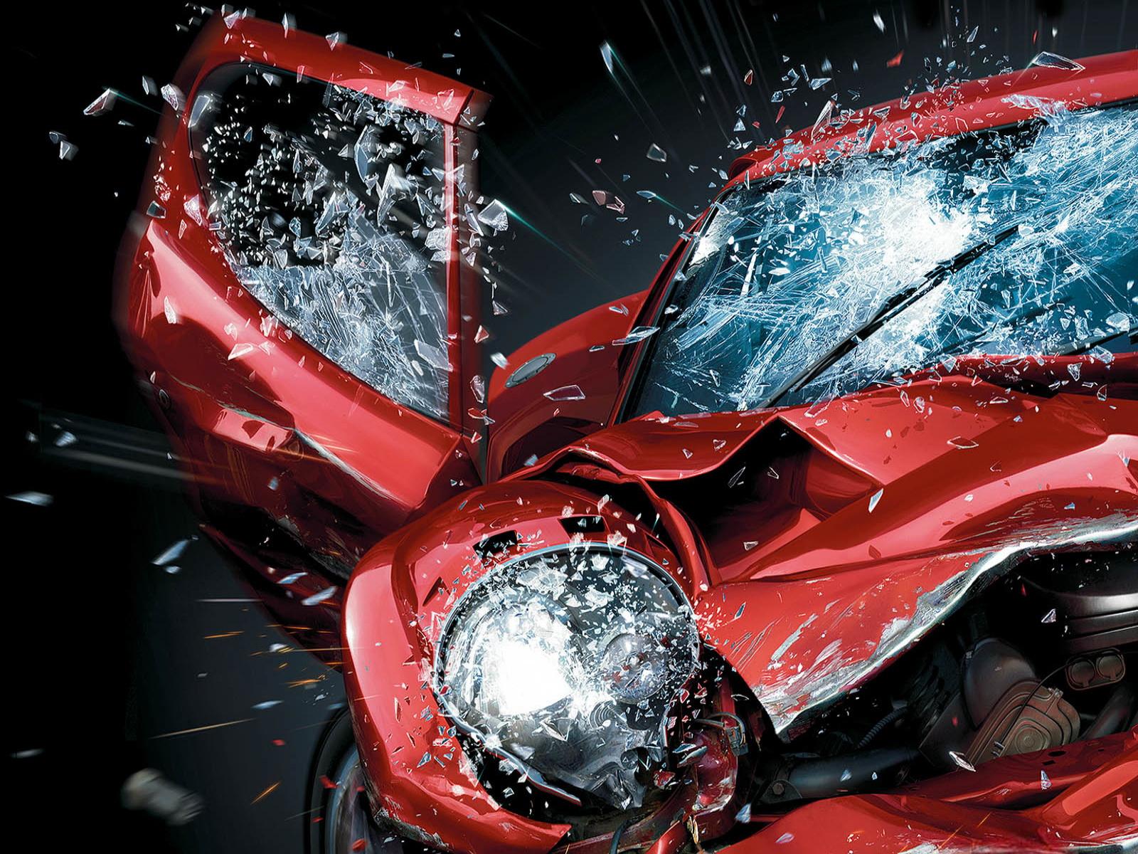 coche golpeado